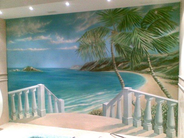 роспись стены в бассейне