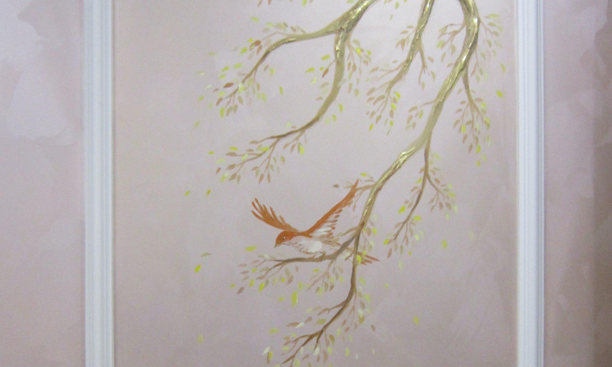 птичка на ветвях